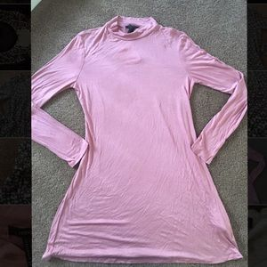 NWT pink sexy forever 21 turtleneck club dress
